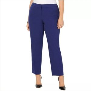 """NWT Nine West """"The Trouser"""" Blue Stretch Pants"""